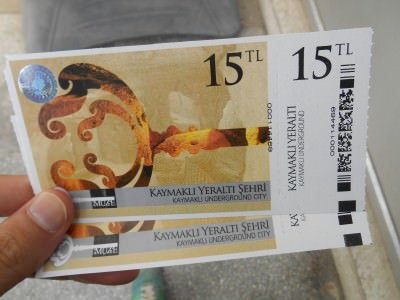 kaymakli turkish lira ticket