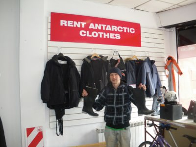 Renting clothes for the cold weather!!