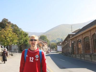 backpacking in azerbaijan seki old town