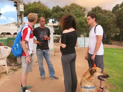 Chatting to Shomi in Haifa, Israel