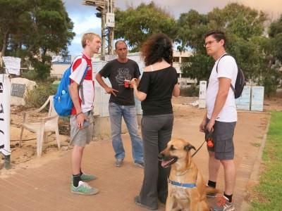 Interviewing the hero of Israel in Haifa!