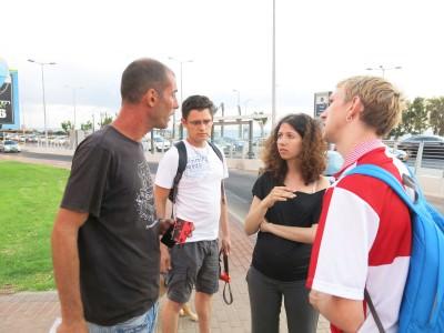Chatting with Shomi, the hero of Israel in Haifa