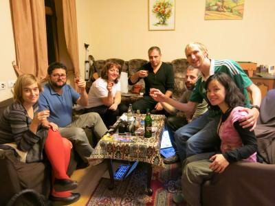 brandy in penthouse hostel yerevan