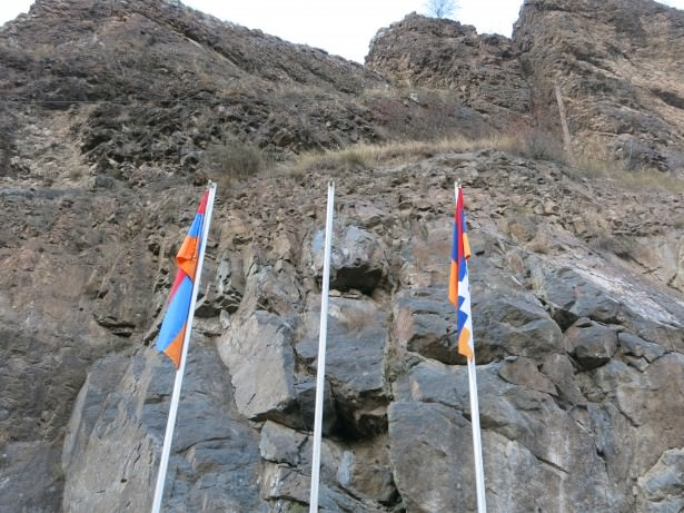 flags nagorno karabakh armenia
