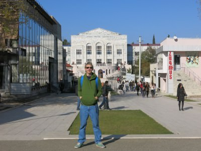 downtown stepanakert backpacking