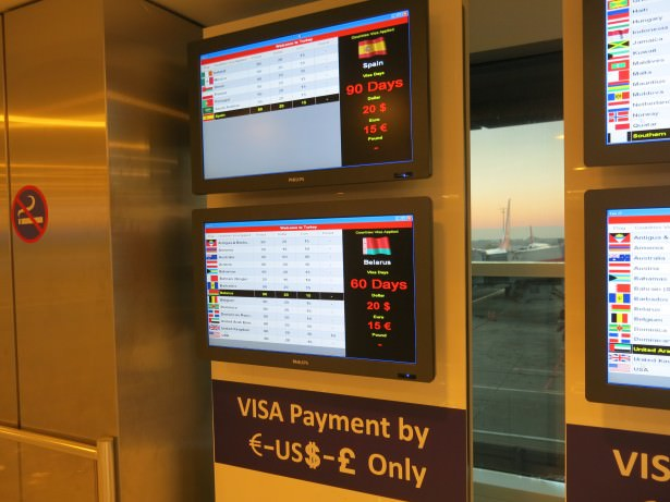 istanbul airport visa information turkey