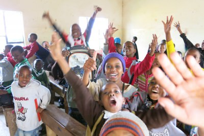 happy kids in tanzania