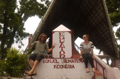brian and noelle in sumatra wandering on