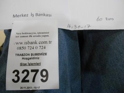 deposit for iran visa trabzon