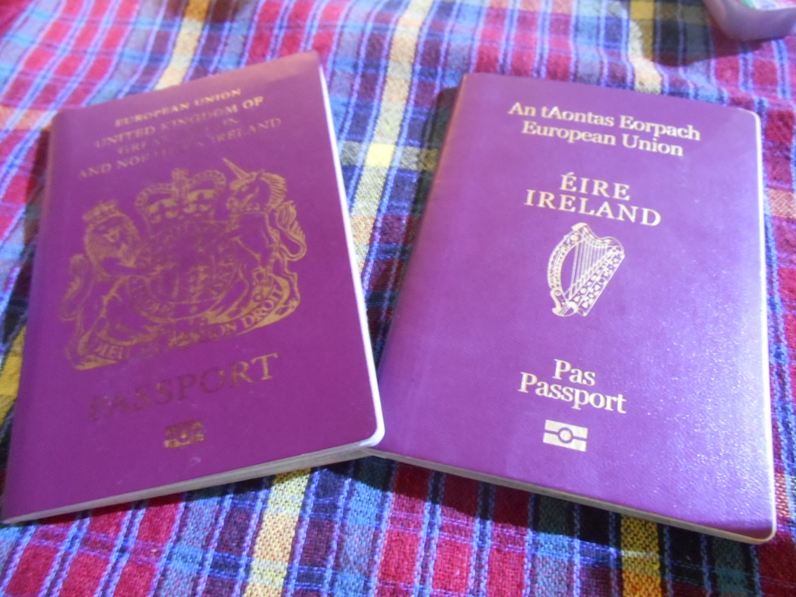 irish and british passports