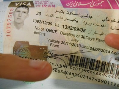 irish visa iran