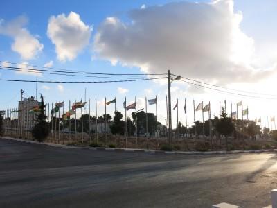 palestine flags ramallah