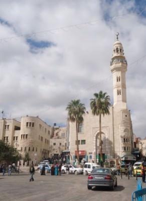 Omar Mosque in Bethlehem, Palestine.