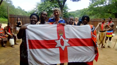 northern ireland flag in swaziland jonny blair