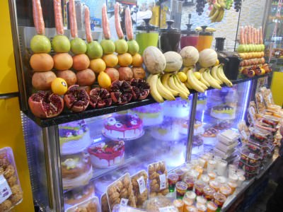 Markets in Iraqi Kurdistan have lots of desserts - all creamy, colourful and sweet.