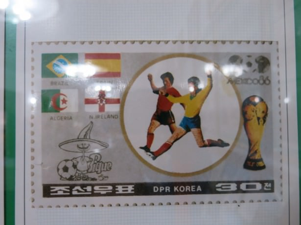 northern ireland on north korea stamp