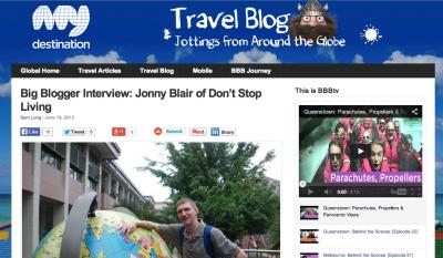 jonny blairs travel blog dont stop living