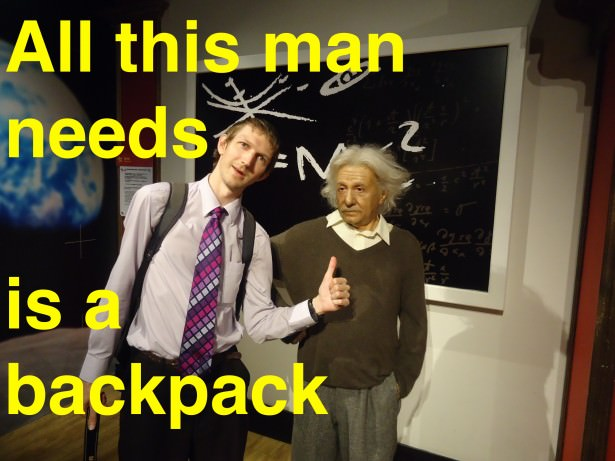 einstein backpacker