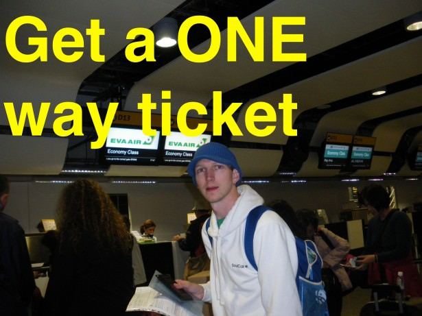 one way ticket backpacking