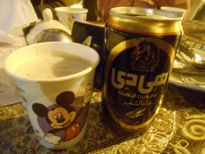 My fake malt beer in a Mickey Mouse mug! Hilarious!