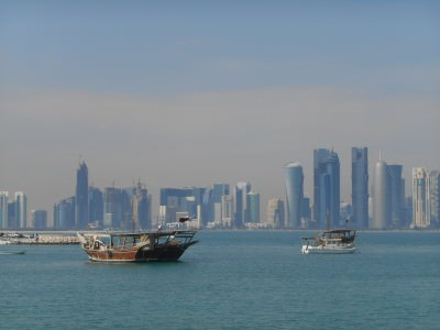 dhow ride in doha bay qatar