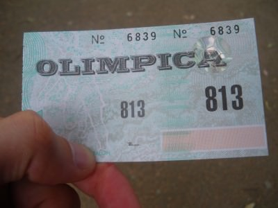 Ticket for Penarol - Olimpica end.