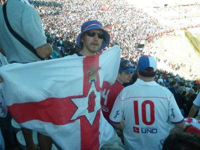 At the Nacional match.
