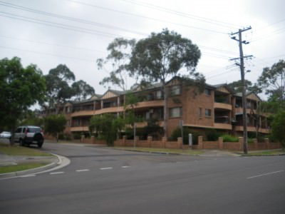 The street I lived on in Parramatta/Westmead.