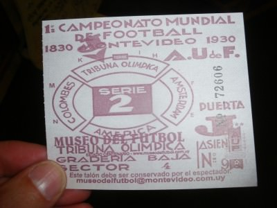 entry ticket for world cup museum montevideo uruguay