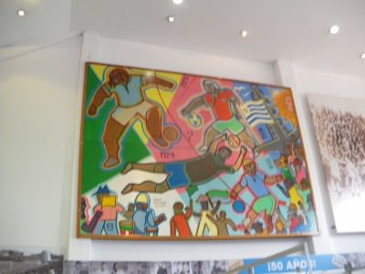 Art in the Football Museum in Montevideo, Uruguay.