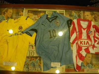 Signed Diego Forlan shirts.