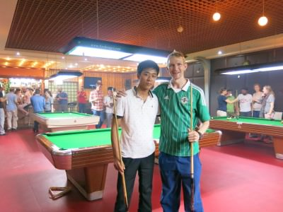 playing pool in north korea
