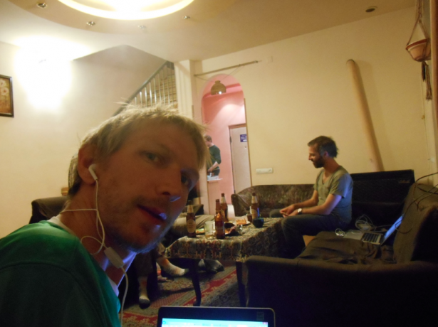 Podcasting live from the cool Penthouse Hostel in Yerevan Armenia
