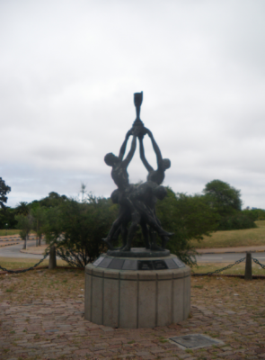 World Cup winners memorial celebrating 1930 and 1950 World Cup wins for Uruguay.