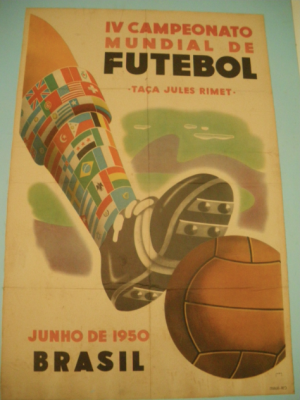 Poster for the 1950 World Cup in Brazil, which Uruguay won.
