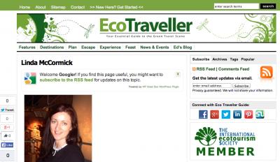 linda mccormick eco traveller