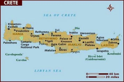 5 Islands I want to visit - Crete, Greece.