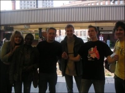 Our crew at Leicester Train Station, a wee guide to moving there.
