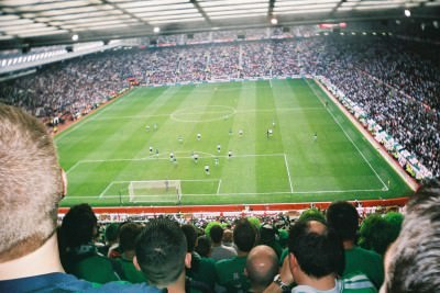 Visiting Old Trafford, Manchester in 2005 watching Northern Ireland.