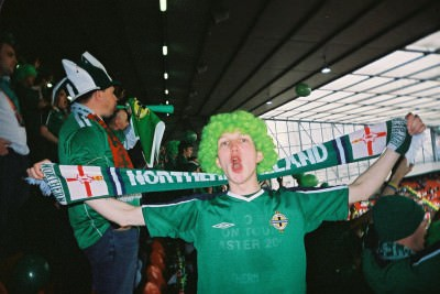 Yes I've been to Old Trafford - here supporting Northern Ireland in 2005.