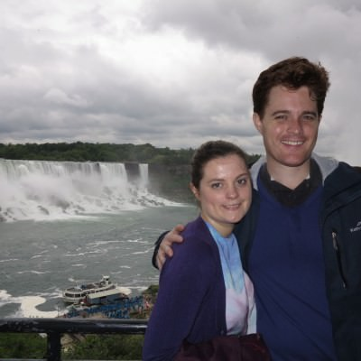World Travellers: Carmen and Dave from Double Barrelled Travel at Niagara Falls