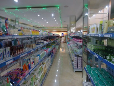 Toiletry shopping in Pyongyang.