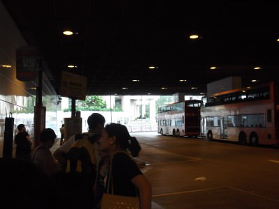 The bus station in Tung Chung.