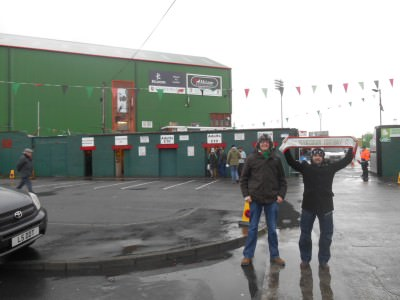 My mates Chaz and Michael at the Glentoran match recently. Apart from the teams I support, I forget the other scores...