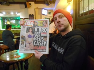 My mate Lock In Lee in Birmingham - the night we won a BET!