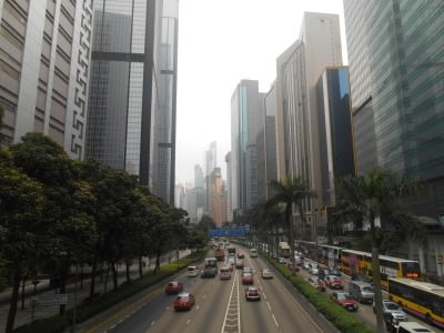 Wan Chai, Hong Kong - this is where Immigration Tower is.