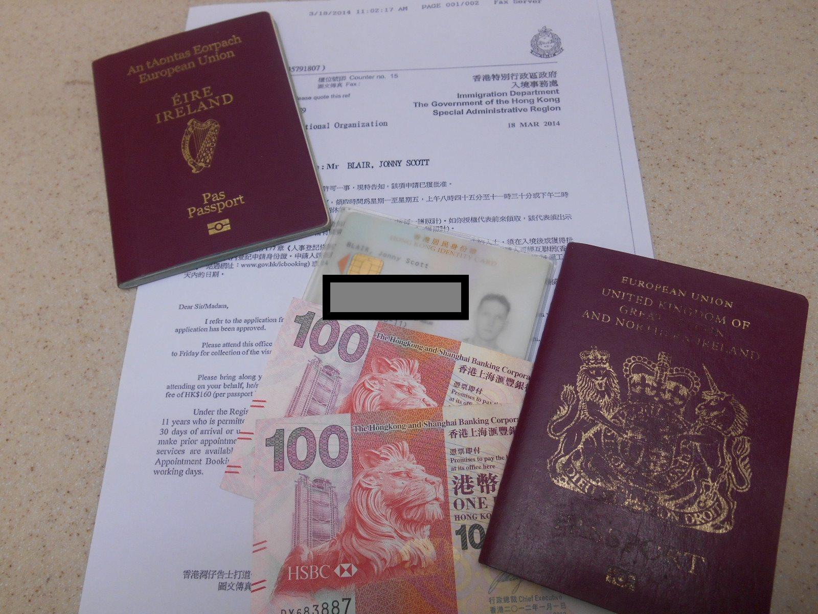 hong kong working visa