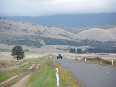 Driving the Tasmanian wilderness in 2010.