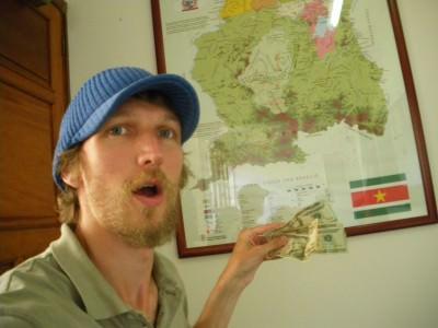 Relief the day I got my Suriname Visa in Venezuela.