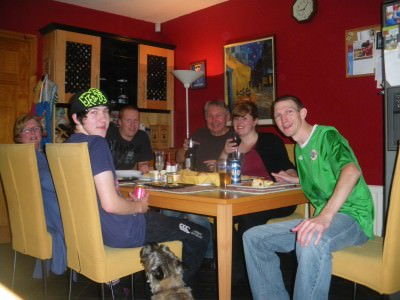 Dinner with my family in 2011 - all together.